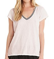 Michael Stars Short Sleeve V-Neck Ringer Tee 8901