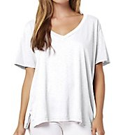 Michael Stars Supima Cotton Slub Short Sleeve V-Neck Tee 8982