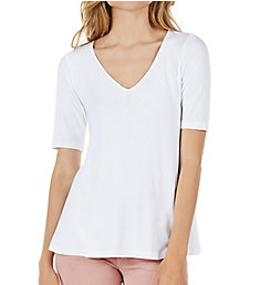 Michael Stars 2x1 Rib V-Neck Swing Tee 9057