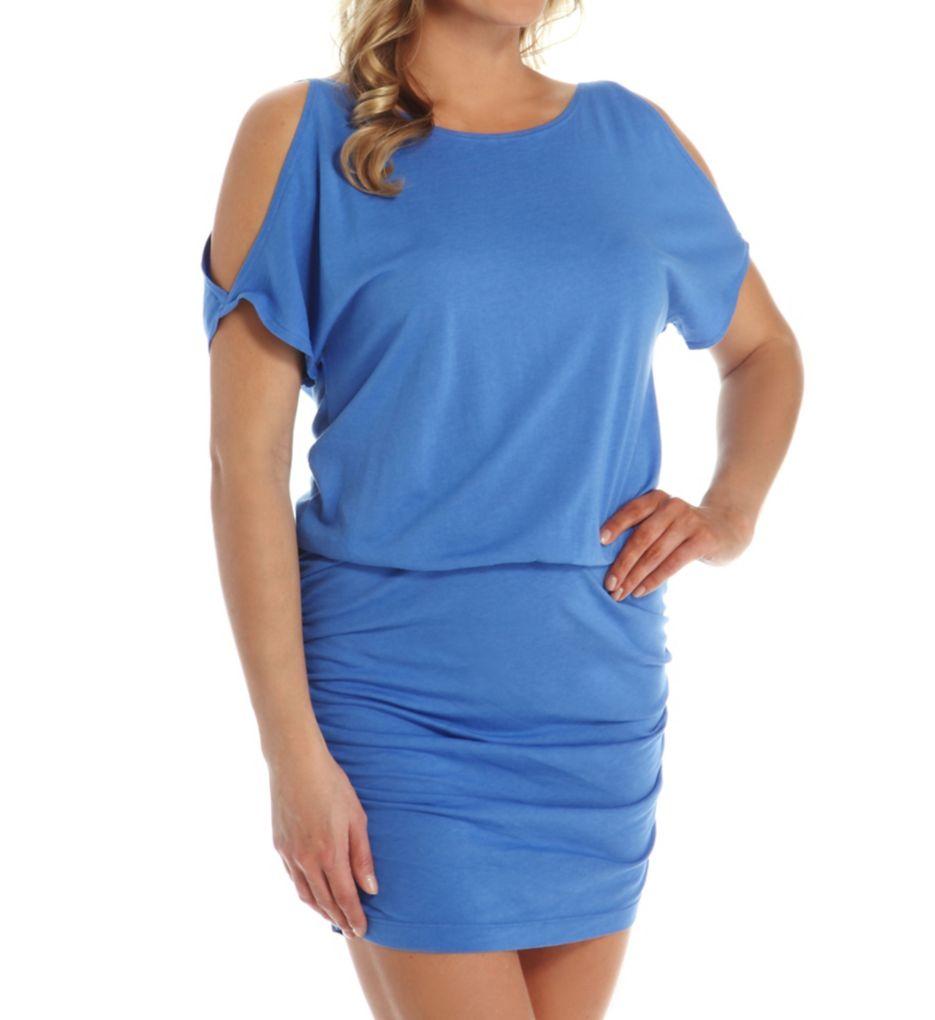Michael Stars Elbow Open Sleeve Tee Dress 9550