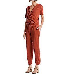 Michael Stars Chelan Cotton Modal Short Sleeve Cropped Jumpsuit 9590