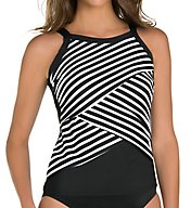 Miraclesuit New Directions High Neck Wire Tankini Swim Top 6502896