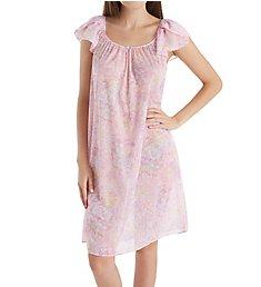 Miss Elaine Tricot Flutter Sleeve Short Gown 201308