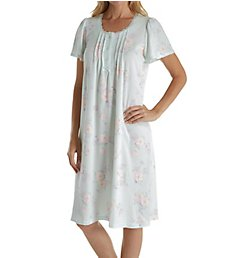 Miss Elaine Silkyknit Cap Sleeve Short Gown 201418