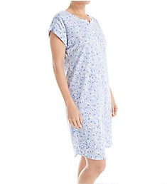 Miss Elaine Luxe Knit Cap Sleeve Short Gown 209436