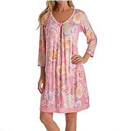 Miss Elaine Liquidknit Long Sleeve Short Gown 217827