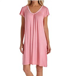 Miss Elaine Liquidknit Short Sleeve Short Gown 237827