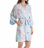 Miss Elaine Printed Woven Rayon Wrap Robe 304767
