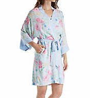 Miss Elaine Printed Woven Rayon Wrap Robe 304767
