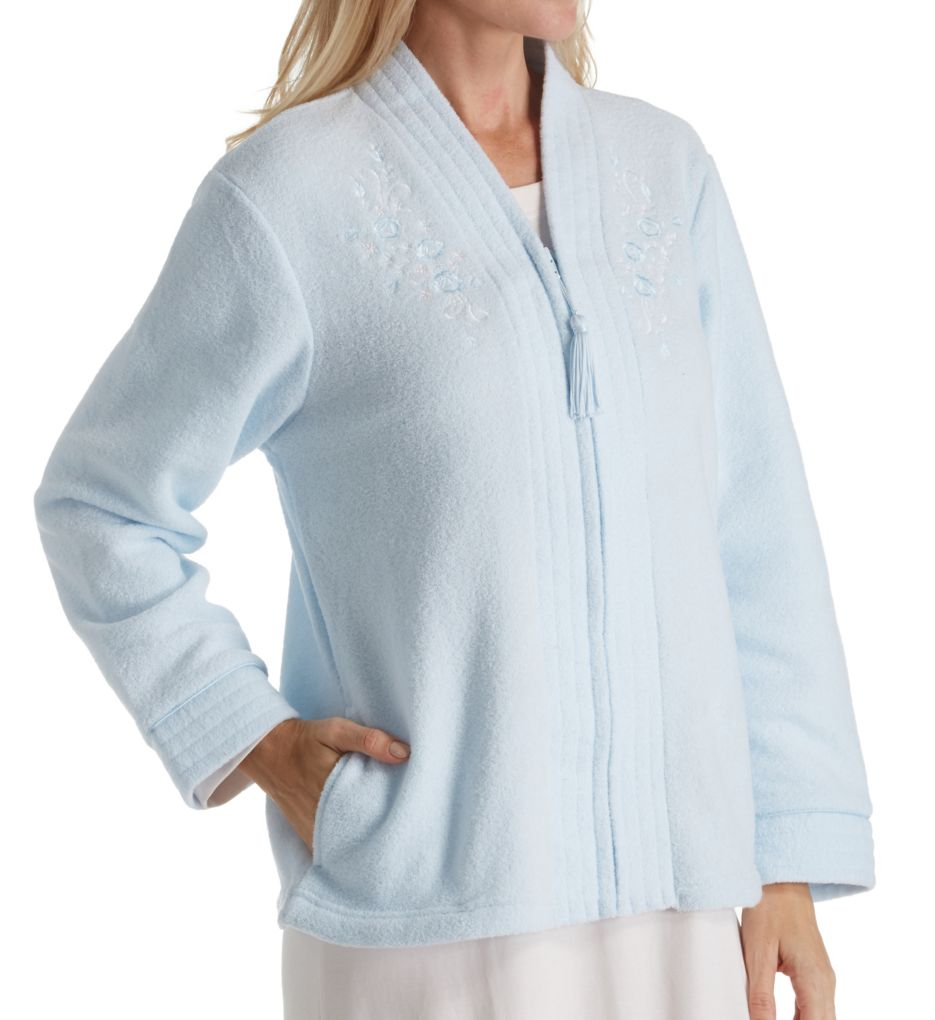 Miss Elaine Brushed Back Terry Bed Jacket 806837