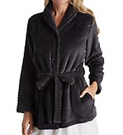 Miss Elaine Cuddle Fleece Button Front Bed Jacket 826547