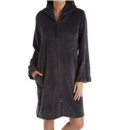 Miss Elaine Cuddle Fleece Short Zip Robe 831548