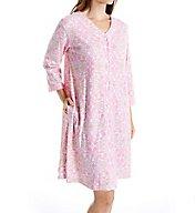 Miss Elaine Interlock Knit Snap Front Coat 851906