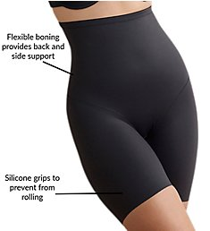 Naomi & Nicole Luxe Shaping Hi-Waist Thigh Slimmer w/ Back Magic 7089