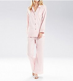 Natori Cotton Sateen Notch Pajama Set V76042