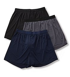 Perry Ellis Luxe Solid Boxer Shorts - 3 Pack 163009PK