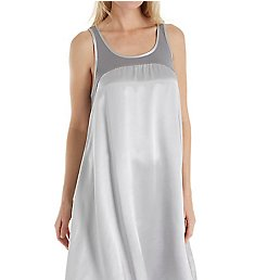 PJ Harlow Satin and Rib Nightgown Lindsay