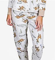 PJ Salvage Achoo! Reindeer Fleece Sleep Pant REACP2