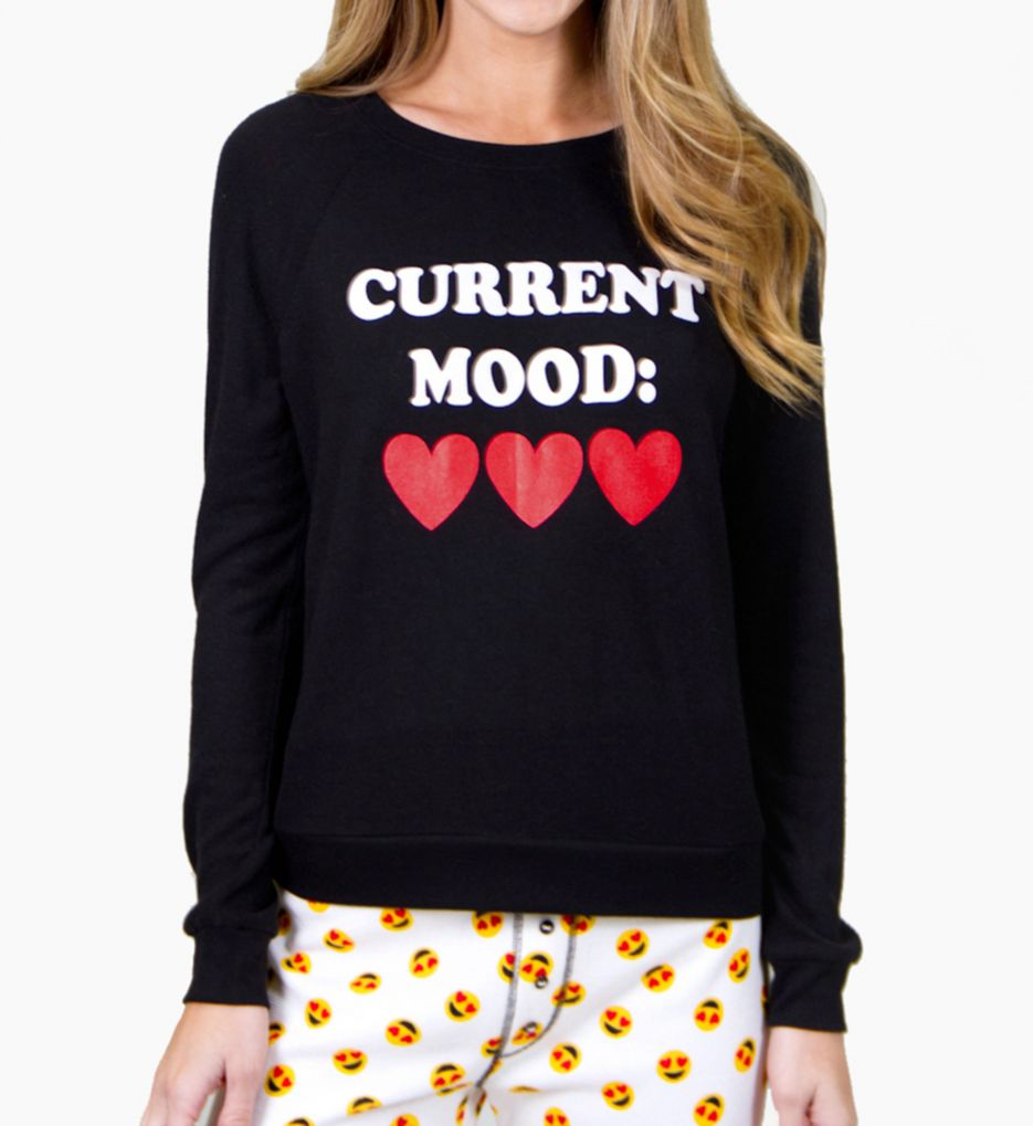 PJ Salvage Current Mood Emoji Long Sleeve Top RECMLS2