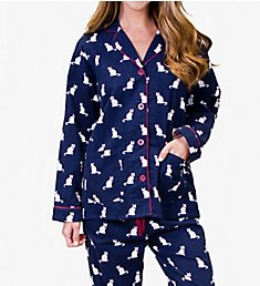 PJ Salvage Fantastic Flannels Cats Pajama Set RECPPJ