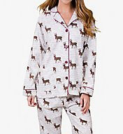 PJ Salvage Fantastic Flannels Deerly Loved Pajama Set REDLPJ