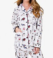 PJ Salvage Fantastic Flannel Cool Cowboy Dogs Pajama Set REDOPJ