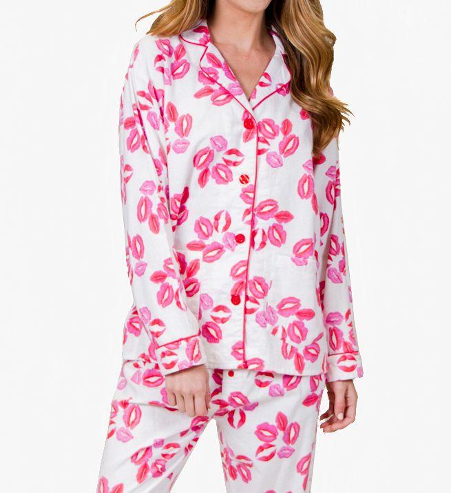 PJ Salvage Fantastic Flannels Lips Pajama Set RELPPJ