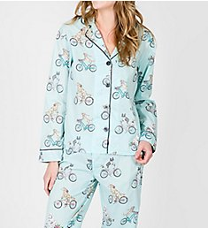 PJ Salvage Playful Prints Bicycling Doggy PJ Set RHPPPJ