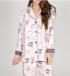 PJ Salvage Flannels Rise and Grind PJ Set RKCOPJ