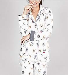 PJ Salvage Flannels Think Pawsitive PJ Set RKDGPJ