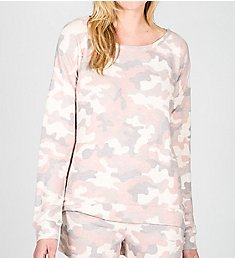PJ Salvage Love is a Battle Soft Peachy Long Sleeve Top RKLBLS1