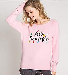 PJ Salvage Let's Flamingle Long Sleeve Graphic Top RLLFLS2