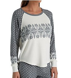 PJ Salvage Snowed In Peachy Long Sleeve Top RPSNLS1