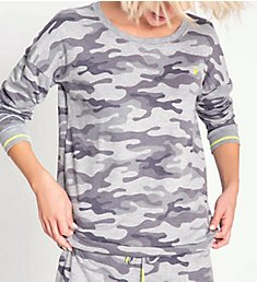 PJ Salvage Neon Pop Camo Long Sleeve Top RSNPLS1