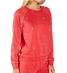 PJ Salvage Cozy Fleece Snowflake Top RVJSLS1