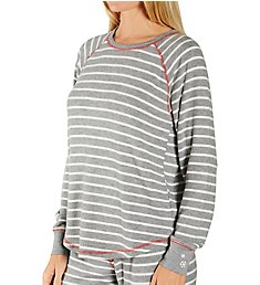 PJ Salvage Winter Stripe Peachy Top RVJSLS2