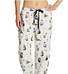 PJ Salvage Majestic Cats Cotton Flannel PJ Pant RZFLP4