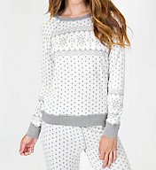 PJ Salvage Naturally Grey Long Sleeve Top RZNGLS1