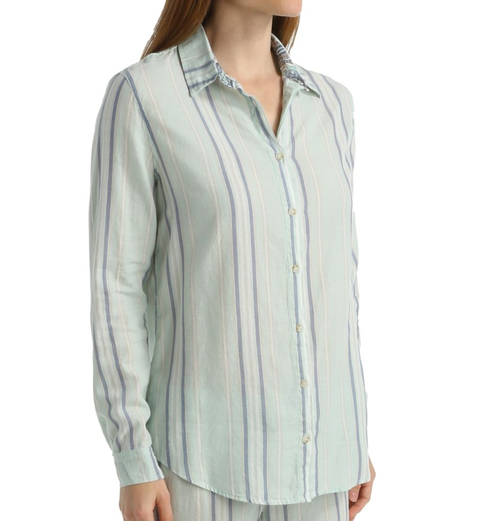 PJ Salvage Washed Ashore Button Up Shirt XWASLS3