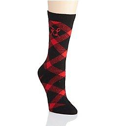Polo Ralph Lauren Blue Label Bias Buffalo Check Boot Sock w/Ralph Lauren Emblem 76006