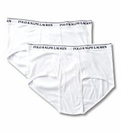 Polo Ralph Lauren Big and Tall 100% Cotton Mid Rise Briefs - 2 Pack LXBF