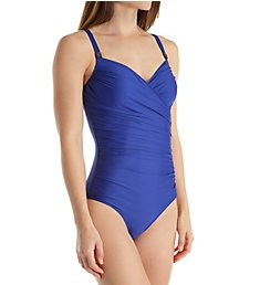 Prima Donna Cocktail Asymmetric Shirred Slimming 1 Pc Swimsuit 40-001-3