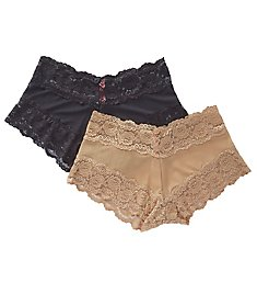 QT All Over Lace Boyshort Panty - 2 Pack 5554QTPK