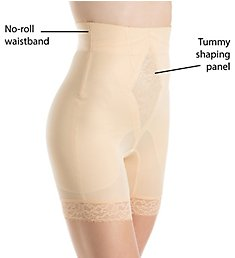 Rago Diet Minded No Roll High Waist Long Leg Shaper 6206