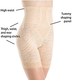 8a80c3c8a Rago Lacette Extra Firm No Roll High Waist Leg Shaper 6207