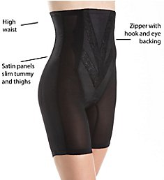 Rago High Waist Half Leg Shaper with Zipper 6210