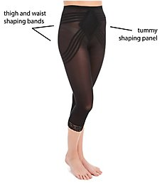 Rago Shapette Capri Pant Liner with Contour Bands 6269
