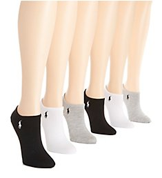 Ralph Lauren Ultra Low Flat Knit Anklet Sock - 6 Pack 727704