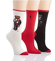 Ralph Lauren Hot Cocoa Bear Sock Gift Box - 3 Pair Pack 79201