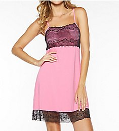 Rhonda Shear Butterknit Chemise with Shelf Bra 7914
